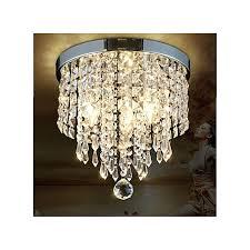 elegant chandelier crystal lamp light ceiling flush mount fixture home decor