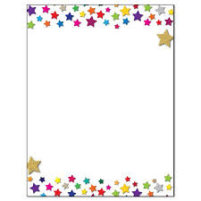 Letterhead Stationary Stonehouse Collection Star Border Letterhead Stationery B6501