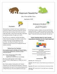 027 Template Ideas Newsletter Templates For Preschool One