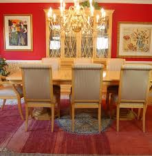 Henredon Dining Room Table Henredon Quotcharles Xquot Burled Elm Dining Room Table And Chairs Ebth