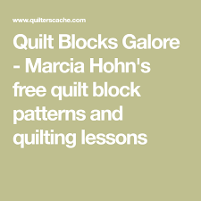 Quilt Blocks Galore - Marcia Hohn's free quilt block patterns and ... & Quilt Blocks Galore - Marcia Hohn's free quilt block patterns and quilting  lessons Adamdwight.com