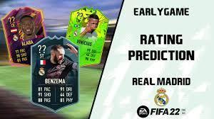 FIFA 22 Rating Prediction: Real Madrid