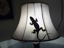 light white window glass animal ceramic lamp reptile black lampshade lighting lizard gecko sculpture art light