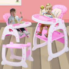Image is loading 3-in-1-Baby-High-Chair-Convertible-Play- 3 in 1 Baby High Chair Convertible Play Table Seat Booster Toddler