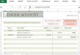 accounting ledger template t account ledger template for excel