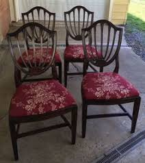 vine walnut wood shield back dining chairs 5