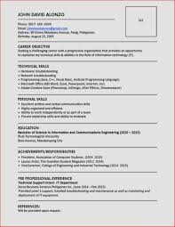 Sample Resume Template Resume Template It New Sample Resume format for Fresh Graduates E 45