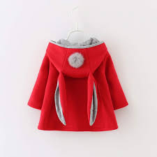 2018 new design infant long sleeve cardigans with bunny hoo winter coat baby girl jacket for girls malaysia