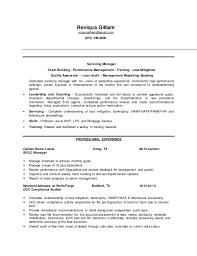 Loan Specialist Sample Resume Best R Gilliam Servicing Manager Resume