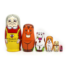 6pcs set nesting dolls baby toy gift wooden matryoshka russian dolls hand painted home decorations at banggood sold out