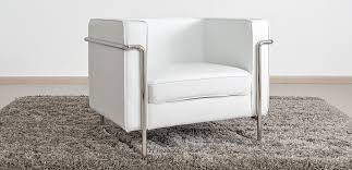 le bauhaus armchair white premium leather