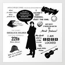 Sherlock Holmes Quotes Art Print