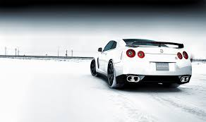 snow with nissan gtr wallpaper