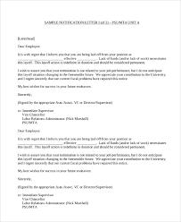 Sample Notification Letter