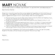 Template Visitation Agreement Template Child Custody New Letter