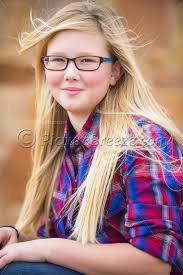 Cute girl, 12 years old, wearing glasses - Stock Photos of Texas and Mexico