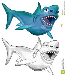 Small Picture The Cartoon Dinosaur Shark Megalodon Coloring Page For Kids