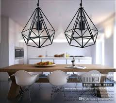 wire cage light fixtures art vintage pendant lights led lamp metal cube cage lovely light fixture