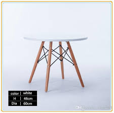 high quality hdf restaurant dining round shape for beech wood legs hdf table board steel support structure new status table home table dinning table