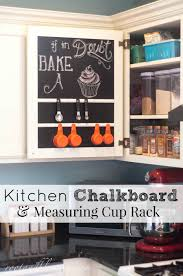 Kitchen Chalkboard With Shelf Rootandblossom Kitchen Chalkboard Measuring Cup Rack