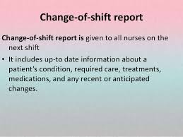 Reports Shift Transfer Incident Telephone