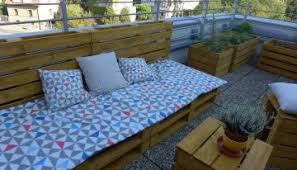 pallet furniture projects. Rooftop Pallet Furniture With Planters Projects L