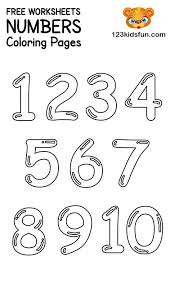 Parents, teachers, churches and recognized nonprofit organizations may print or copy multiple sheets for use. Free Printable Number Coloring Pages 1 10 For Kids 123 Kids Fun Apps Kids Learning Numbers Free Printable Numbers Numbers Preschool Printables