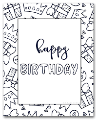 Customize a happy birthday coloring page by changing the font and text. 60 Best Free Printable Happy Birthday Coloring Sheets Stickers Cards Gift Tags And More Sarah Titus From Homeless To 8 Figures