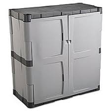 rubbermaid plastic storage cabinet. Rubbermaid Double-Door Storage Cabinet - Base, 36W X 18D 36H, Gray Plastic L