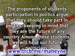 should students take part in politics