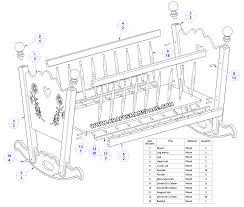 rocking baby cradle plan parts list