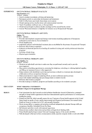 Occupational Therapy Resume Samples Velvet Jobs
