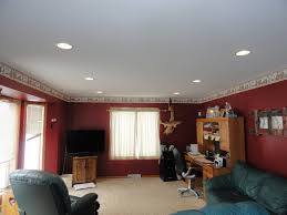Lights For Living Room Interior Can Lights Living Room With Cream Upholstery Sofa Red
