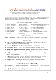 Professional Strengths Resume Project Finance Associate Resume Templates At