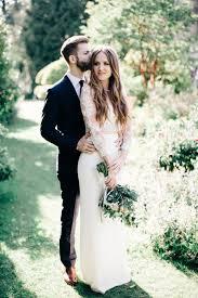 fashionable bohemian bride groom stylemepretty