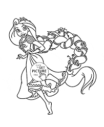 Funny Princess Rapunzel Coloring Page For Kids Disney Princess