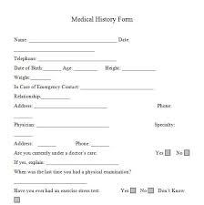 Printable Medical History Forms In Word And Pdf Format