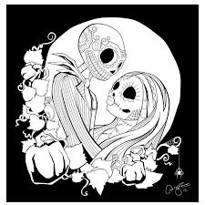 Small Picture 16 best Nightmare before Christmas colouring images on Pinterest