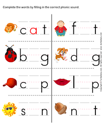fill in the correct phonic sound worksheet turtle diary