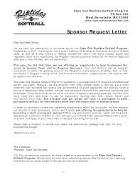 Sample Sponsorship Proposal Letter Template Example Executive