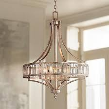 Eclectic lighting Lodge Soft Silver 4light 24 Kathy Kuo Home Lighting Fixtures Eclectic Chic Lamps Plus
