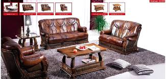 brown leather sofa with wood trim full leather wood trim sofa bed sleeper set by
