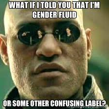 what if i told you that i'm gender fluid or some other confusing ... via Relatably.com