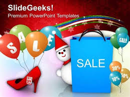 Sell Powerpoint Templates Christmas Christmas Sale Discounts Shopping Ppt Template Powerpoint