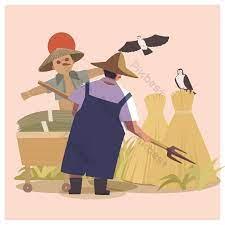 วันแรงงานการ์ตูนวาดด้วยมือเกษตรกร | องค์ประกอบกราฟฟิก แบบ PSD ดาวน์โหลดฟรี  - Pikbest