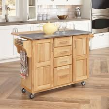 Top Kitchen Home Styles Stainless Steel Top Kitchen Cart With Breakfast Bar