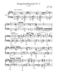 Printable sheet music free sheet music piano sheet music freddie mecury queens wallpaper song sheet piano teaching music theory piano lessons. Hungarian Rhapsody No 2 Sheet Music For Piano Solo Musescore Com