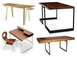 [image above: A great wooden desk can be both classic and modern. Today's  modern finishes combined with classic lines make for some of the best desks  on the ...