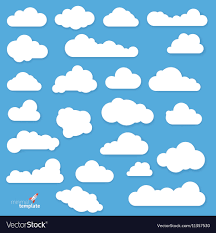 Clouds Design Flat Design Clouds Royalty Free Vector Image Vectorstock