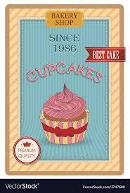 Cupcake Poster Design Cupcake Poster Retro Vintage Design